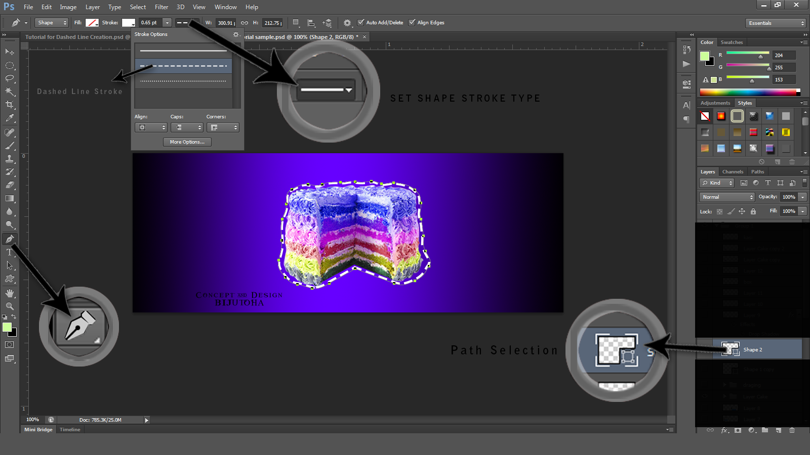 How To Make Dashed Line Effect In Photoshop Cs6